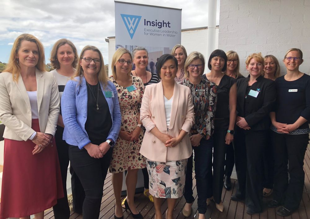 Insight participants pose at their first meeting