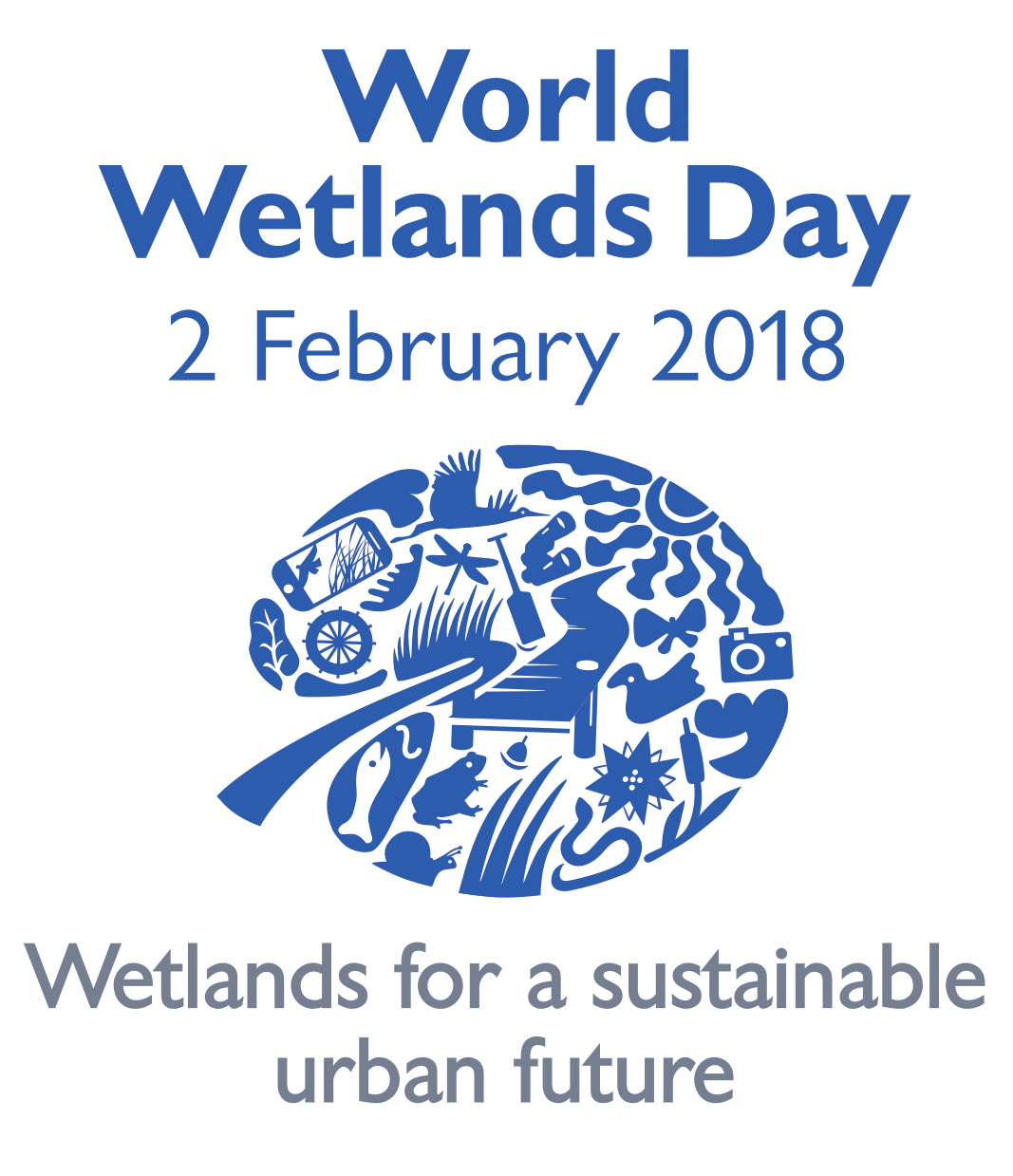 Logo for world wetlands day