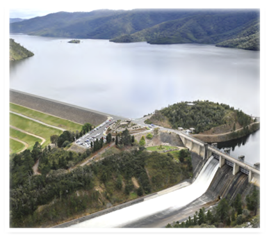 Lake Eildon release is diverted for irrigation and environmental purposes and supplies around 60% of water used in the Goulburn-Murray Irrigation District. Photo sourced from G-MW webpage
