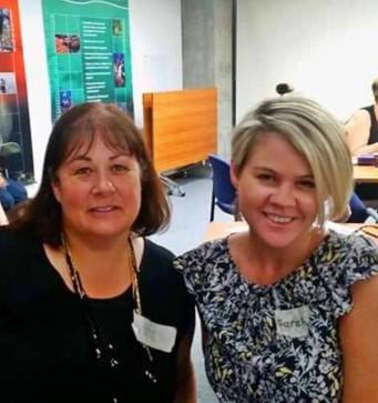 Sarah Halligan with her mentor Kim Blenkiron