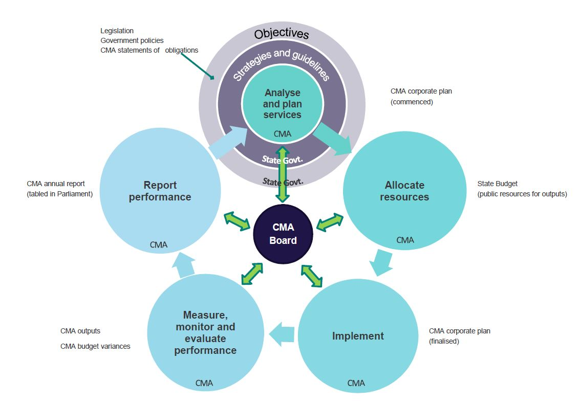 The annual cycle of implementation and continual improvement of governance applicable to CMAs