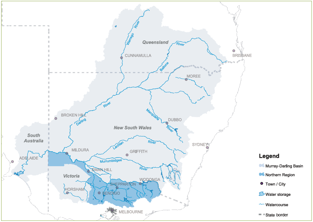 Map Of Australia Murray River.Overview Murray Darling Basin