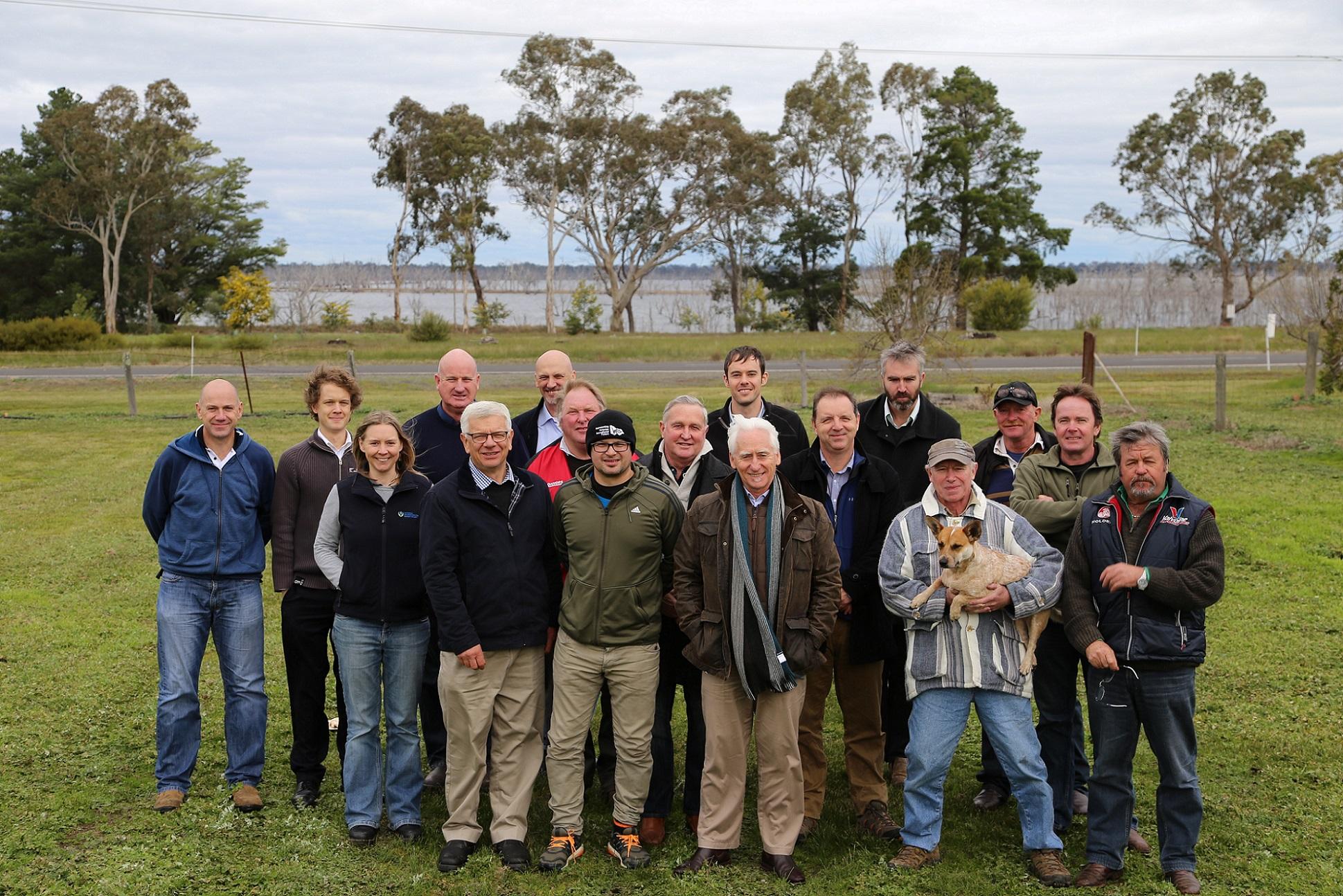 Photo taken outside of the Toolanda Reservoir Fishing Advisory Group
