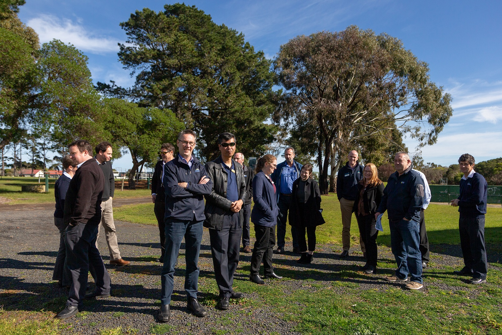 An outdoors photo of  the meeting Group of Integrated Water Management practitioners in Wonthaggi