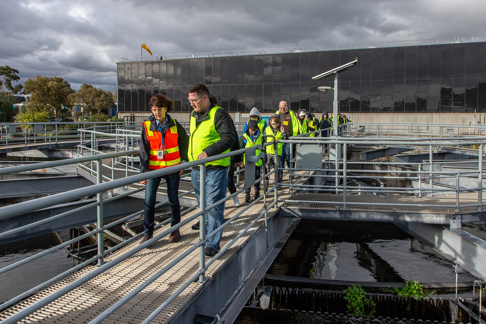 Photo of group touring the Eastern Treatment Plant